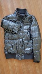 Куртка блестящая серебряная серая размер М деми