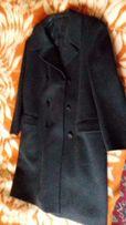 Шерстяное мужское пальто б/у