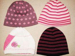 czapki dziewczęce na 5-7 lat