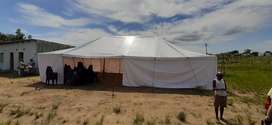 12 m × 7 m, two poles tent. It 10 months old.