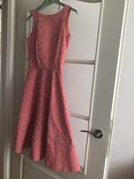 Sukienka wieczorowa SIMPLE 32/róż/wesele/idealna