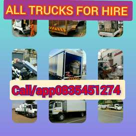 ALL TRUCKS AND BAKKIES FOR HIRE