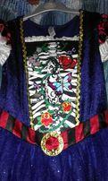 Платье карнавальное с меняющимся рисунком 10-12 лет