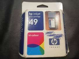 Hp49 tri color ink cartridge - new