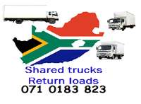 Image of Shared trucks & return loads for long distance