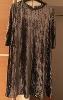 Вечірня оскамитова сукня