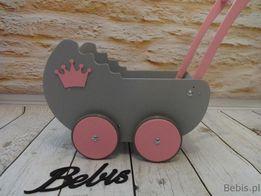 """Wózek drewniany dla lalek model """"Retro"""" - PROMOCJA - Bebis"""