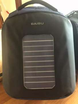 Solar Powered Usb Charge Anti Theft 15.6'' Laptop Bagpack Waterproof