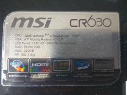 Продам б/у НОУТБУК MSI CR630. Состояние: нормальное. рабочее.