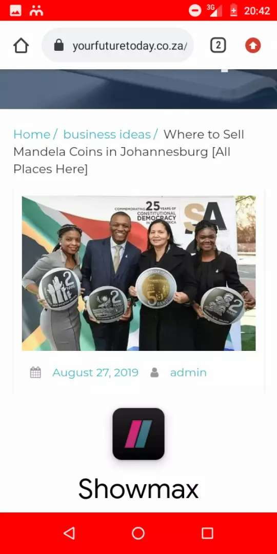 We are selling Mandela coins 0