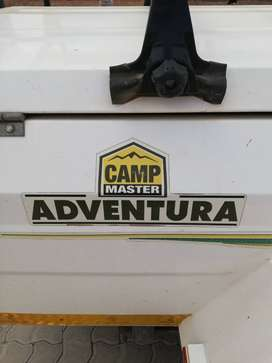 Campmaster adventure trailer with roof rack for rooftent and 5 bicycle