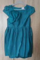 Wizytowa sukienka Next 134 cm elegancka wesele okazje