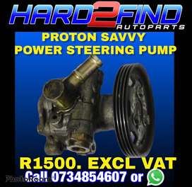 PROTON SAVVY POWER STEERING PUMP  R1500. EXCL VAT