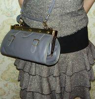 Женская кожаная сумка саквояж, сумочка 600 руб.