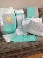 Набор на кроватку для младенца. Защита, балдахин, белье. Greta-Lux.