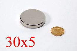 Неодимовый магнит 30х5 N42 (15кг.) ПОЛЬША 100% ПОДБОР, ВСЕ РАЗМЕРЫ!