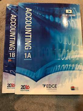 Accounting 1A and 1B Edge textbook