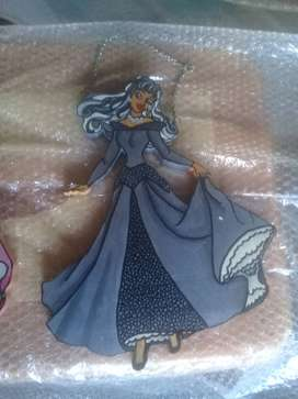 Hand Made Painted Princess Decoration With Grey Dress