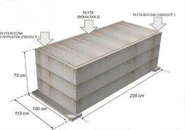 Betonowe piwniczki pod grobowce/pomniki 238cm x 100cm x 75cm zbrojone