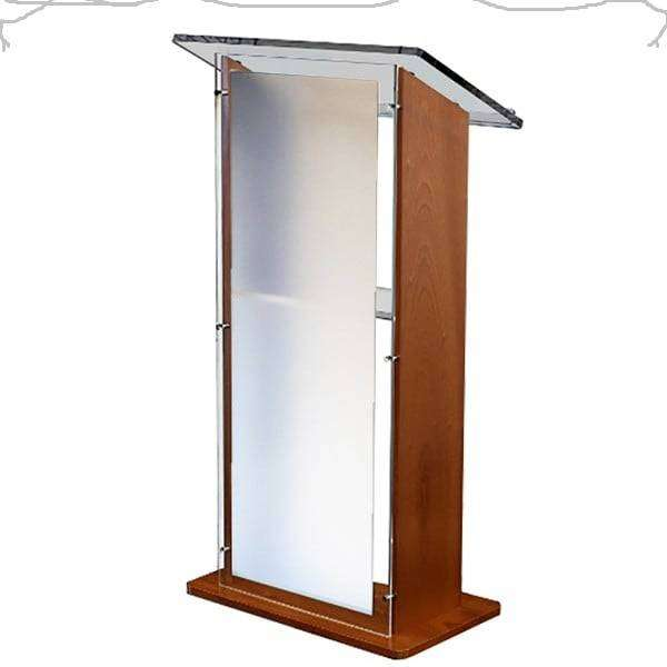 U Shape Wood Frosted Front 0