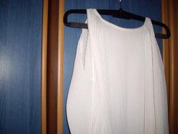 Plisowana biała bluzeczka.