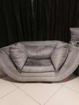 Beautiful Suede One Seater Couch