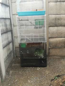Rat cage, penthouse style & Hamster cage