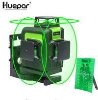 Лазерный уровень Huepar 3D Green с зелёными лучами