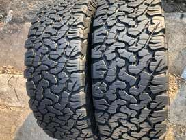 265 60 R18 BF Goodrich All Terrain Tyres | 90% Thread | 2x