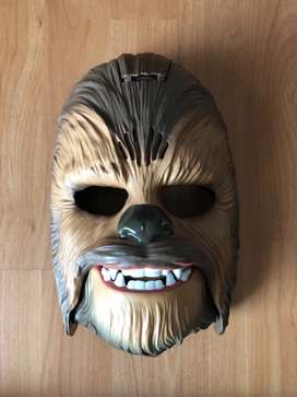 Star Wars Chewbacca mask and light saber