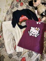 Свитер, штаны теплые, платье теплое , пакет вещей на девочку 2-3 года.