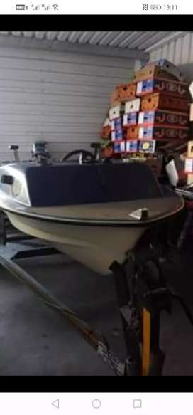 Boat with trailer and 15hp Yamaha motor