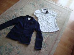 Marynarka i bluzka dziewczęca rozm 158
