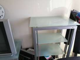 Glass tv unit and table