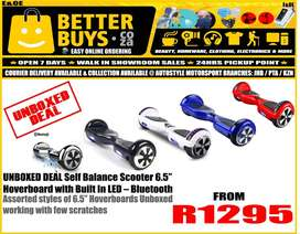 unboxed Deal 6.5 inch Self Balance Hoverboard, scooter,  sedgeway styl