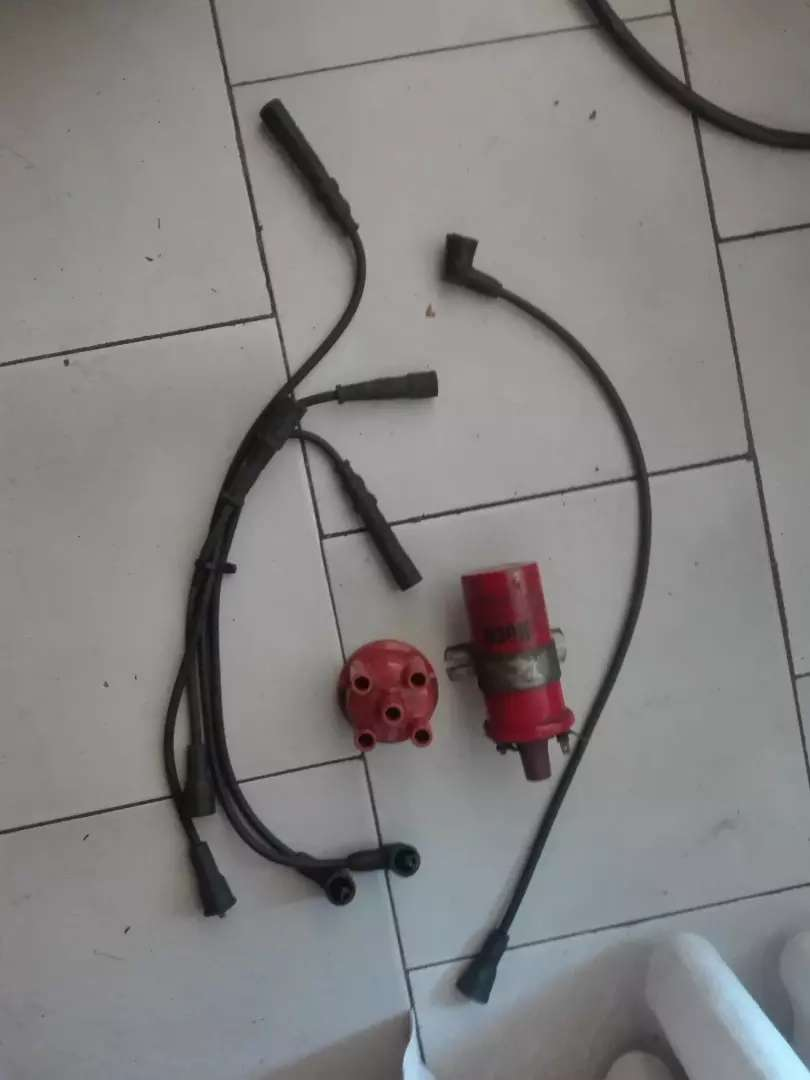 Vw mk1/mk2/mk3 coil with plug wires and distributor cap 0