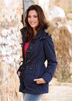 Парка куртка женская новая бонприкс синяя на шнуровке