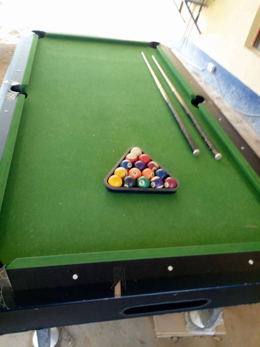 Fairly Used 8ft Professional Snooker Board with Accessories 0