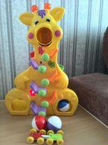 Веселый жираф, Kinderland, развивающая игрушка, состояние новой