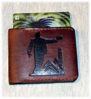 Мини кошелек, портмоне, натуральная кожа, ручная работа
