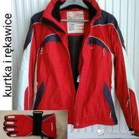 Kurtka narciarska CAMPUS czerwona i rękawice narciarskie