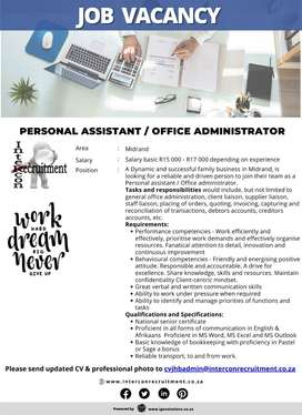 Personal Assistant / Office administrator