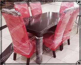 New red and mahoghany 7pc dining suite