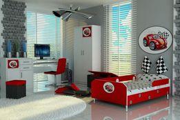 Świetne łóżko dla dziecka z autem,samochód,140x80,160x80,180x80,Raty
