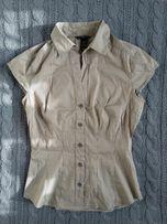 Koszulka z kołnierzykiem H&M XS, paski