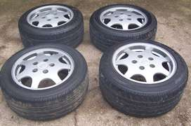 """16"""" Porsche D90 wheels with tyres and centre caps"""