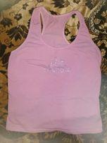 Модная розовая женская майка, молодежная, десткая