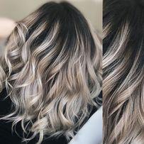Художественное окрашивание волос Растяжка цвета Колорист. Выезд на дом
