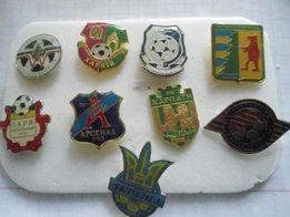 Значки футбольные клубы Украины тяж мет