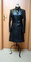 czarny damski skórzany płaszcz firmy Tomax